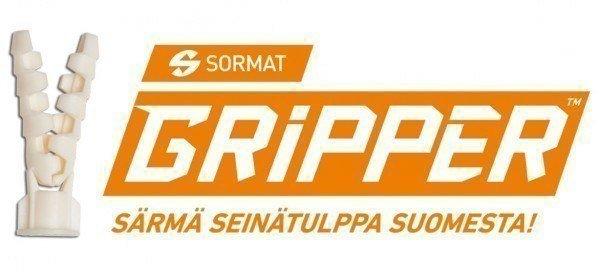 Gripper on särmä seinätulppa Suomesta!