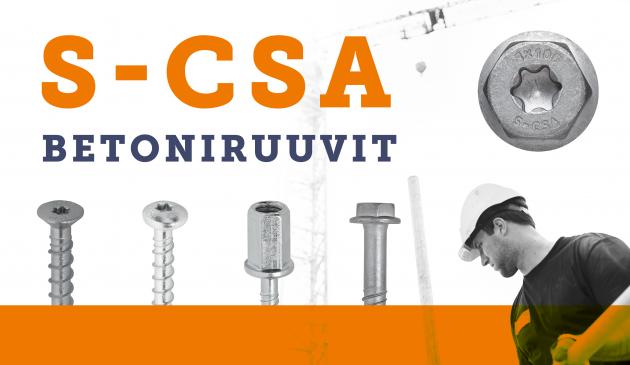 Kotimaiset S-CSA Betoniruuvit