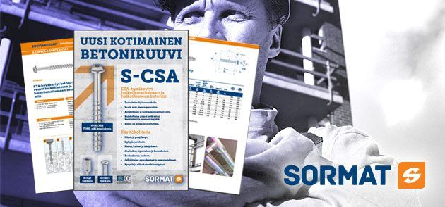 Uusi S-CSA betoniruuvi
