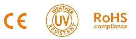 johdinsiteet UV suojalla