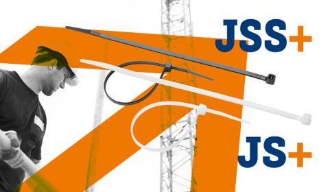 JS+ ja JSS+ johdinsiteet / nippusiteet